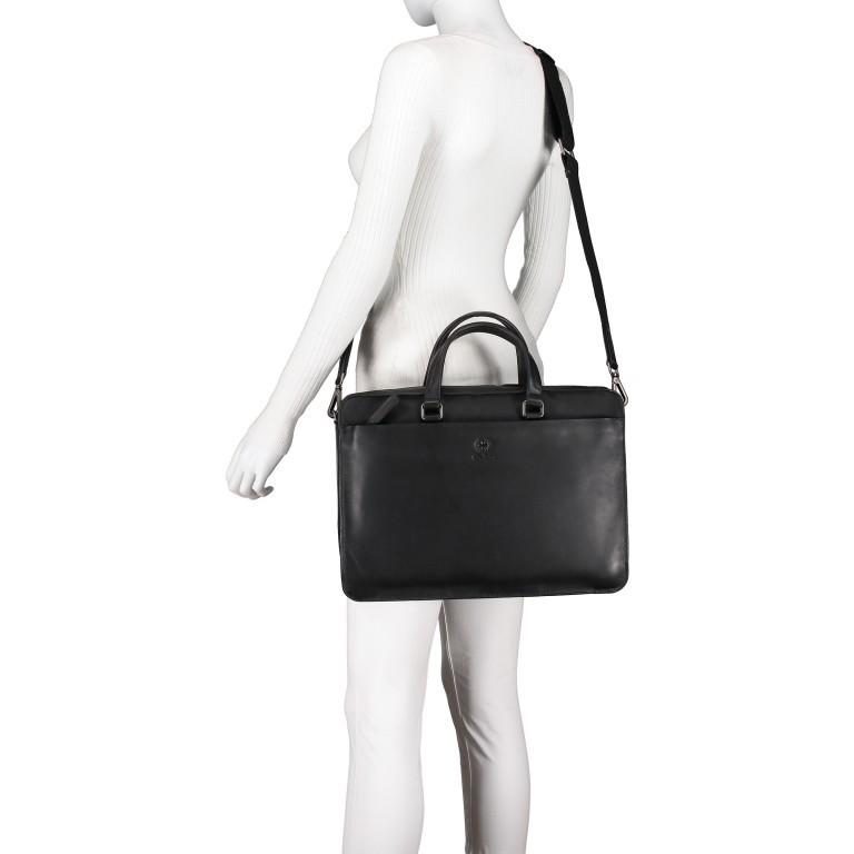 Aktentasche Bakerloo Briefbag SHZ Black, Farbe: schwarz, Marke: Strellson, EAN: 4053533851515, Abmessungen in cm: 39.0x28.0x8.0, Bild 6 von 10