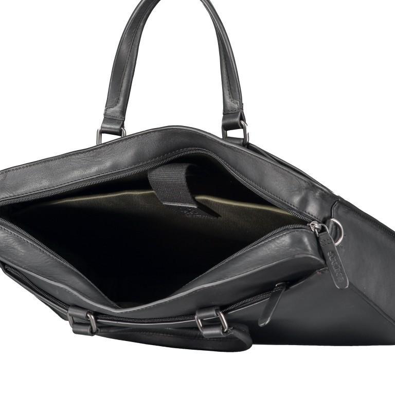 Aktentasche Bakerloo Briefbag SHZ Black, Farbe: schwarz, Marke: Strellson, EAN: 4053533851515, Abmessungen in cm: 39.0x28.0x8.0, Bild 7 von 10