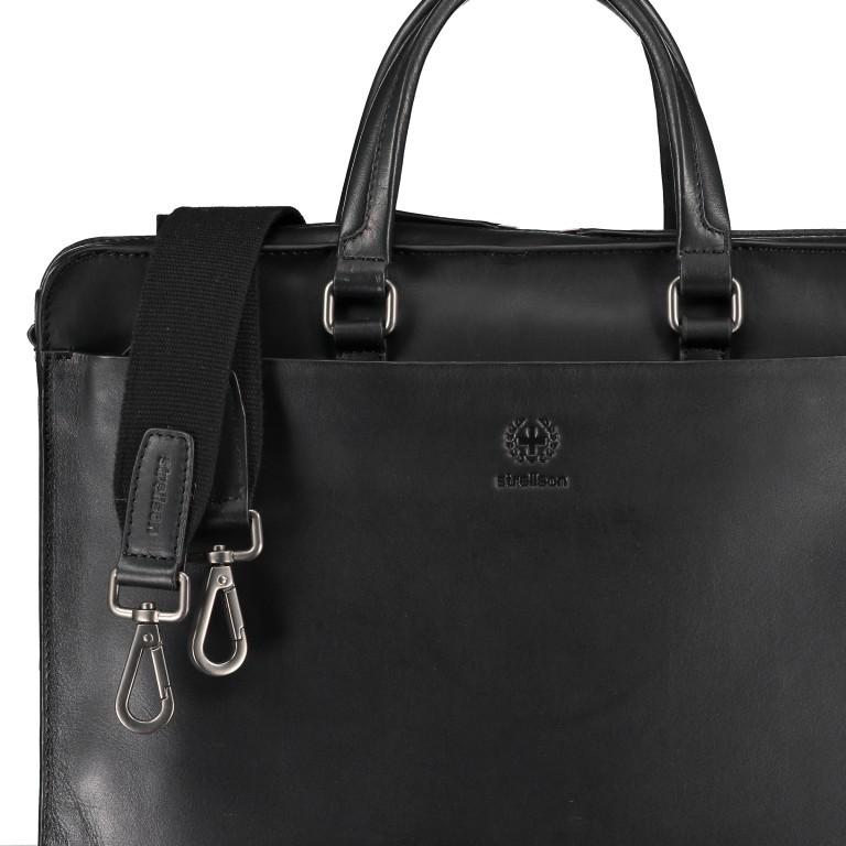 Aktentasche Bakerloo Briefbag SHZ Black, Farbe: schwarz, Marke: Strellson, EAN: 4053533851515, Abmessungen in cm: 39.0x28.0x8.0, Bild 8 von 10