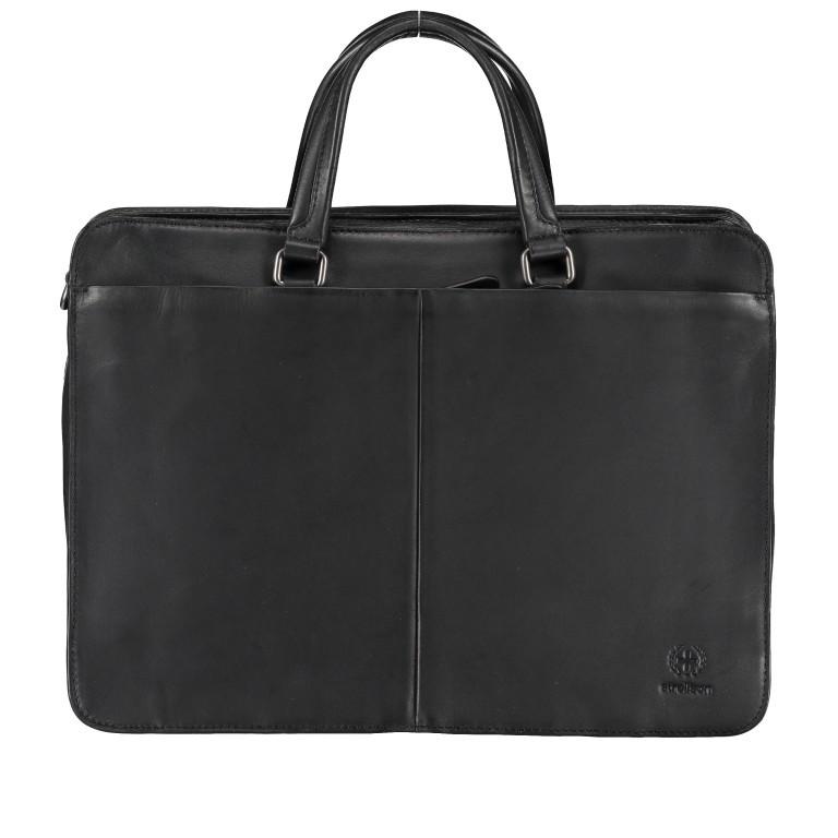 Aktentasche Bakerloo Briefbag MHZ Black, Farbe: schwarz, Marke: Strellson, EAN: 4053533851522, Abmessungen in cm: 39.0x28.0x13.0, Bild 1 von 11