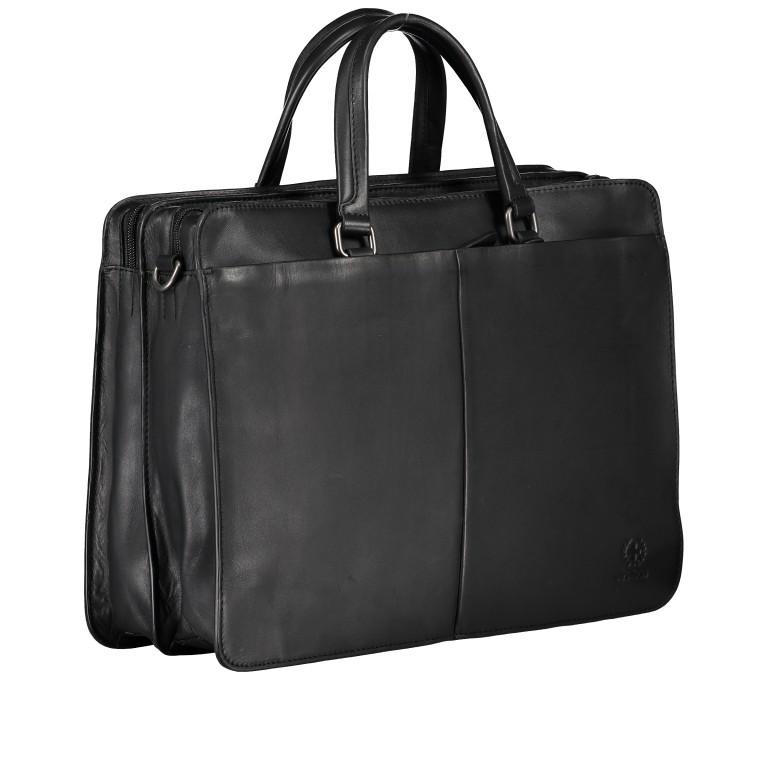 Aktentasche Bakerloo Briefbag MHZ Black, Farbe: schwarz, Marke: Strellson, EAN: 4053533851522, Abmessungen in cm: 39.0x28.0x13.0, Bild 2 von 11