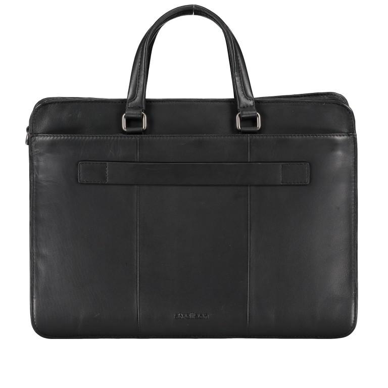 Aktentasche Bakerloo Briefbag MHZ Black, Farbe: schwarz, Marke: Strellson, EAN: 4053533851522, Abmessungen in cm: 39.0x28.0x13.0, Bild 3 von 11
