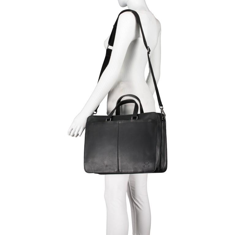 Aktentasche Bakerloo Briefbag MHZ Black, Farbe: schwarz, Marke: Strellson, EAN: 4053533851522, Abmessungen in cm: 39.0x28.0x13.0, Bild 5 von 11