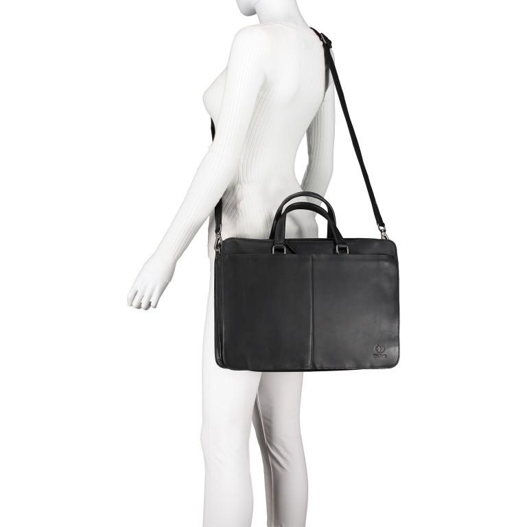 Aktentasche Bakerloo Briefbag MHZ Black, Farbe: schwarz, Marke: Strellson, EAN: 4053533851522, Abmessungen in cm: 39.0x28.0x13.0, Bild 6 von 11
