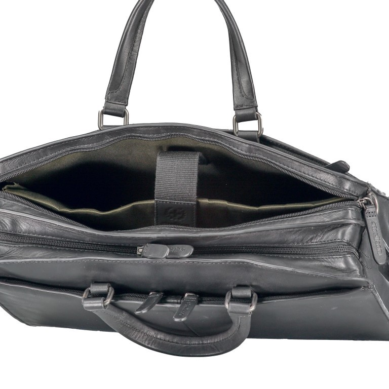 Aktentasche Bakerloo Briefbag MHZ Black, Farbe: schwarz, Marke: Strellson, EAN: 4053533851522, Abmessungen in cm: 39.0x28.0x13.0, Bild 7 von 11