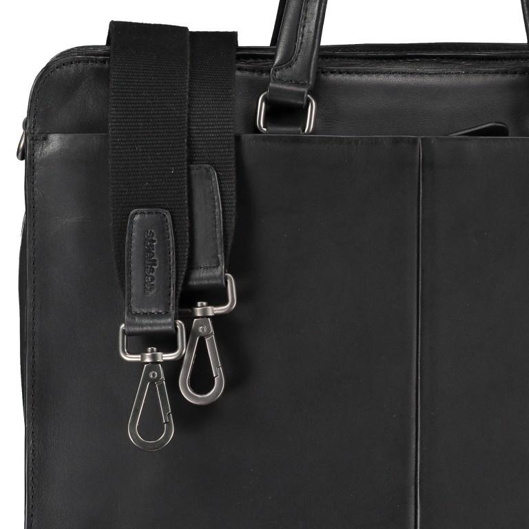 Aktentasche Bakerloo Briefbag MHZ Black, Farbe: schwarz, Marke: Strellson, EAN: 4053533851522, Abmessungen in cm: 39.0x28.0x13.0, Bild 9 von 11