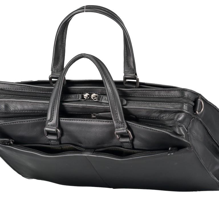 Aktentasche Bakerloo Briefbag MHZ Black, Farbe: schwarz, Marke: Strellson, EAN: 4053533851522, Abmessungen in cm: 39.0x28.0x13.0, Bild 10 von 11