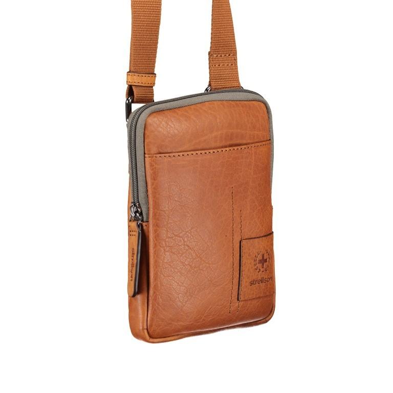 Umhängetasche Hyde Park Shoulderbag XSVZ1 Cognac, Farbe: cognac, Marke: Strellson, EAN: 4053533807864, Abmessungen in cm: 13.0x18.0x2.0, Bild 2 von 7