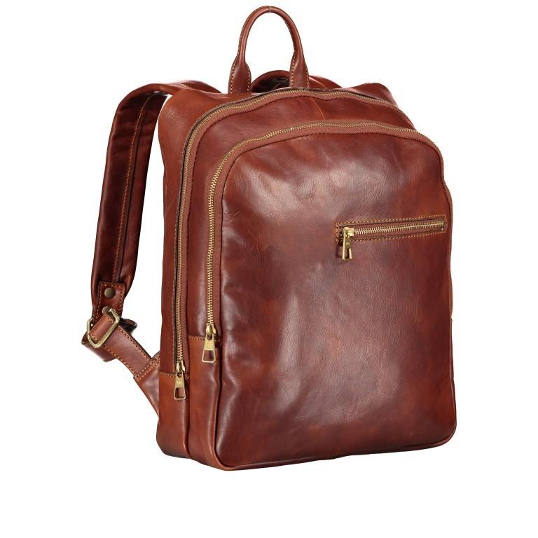 Rucksack Braun, Farbe: braun, Marke: Hausfelder, EAN: 4065646004849, Abmessungen in cm: 29.0x37.0x12.0, Bild 2 von 7