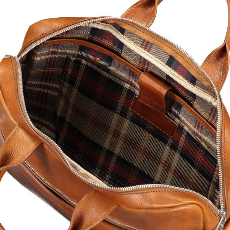 Hausfelder Aktentasche I-NAN-4317 Miele, Farbe: cognac, Marke: Hausfelder, EAN: 4065646004795, Abmessungen in cm: 38.0x29.0x7.0, Bild 7 von 9