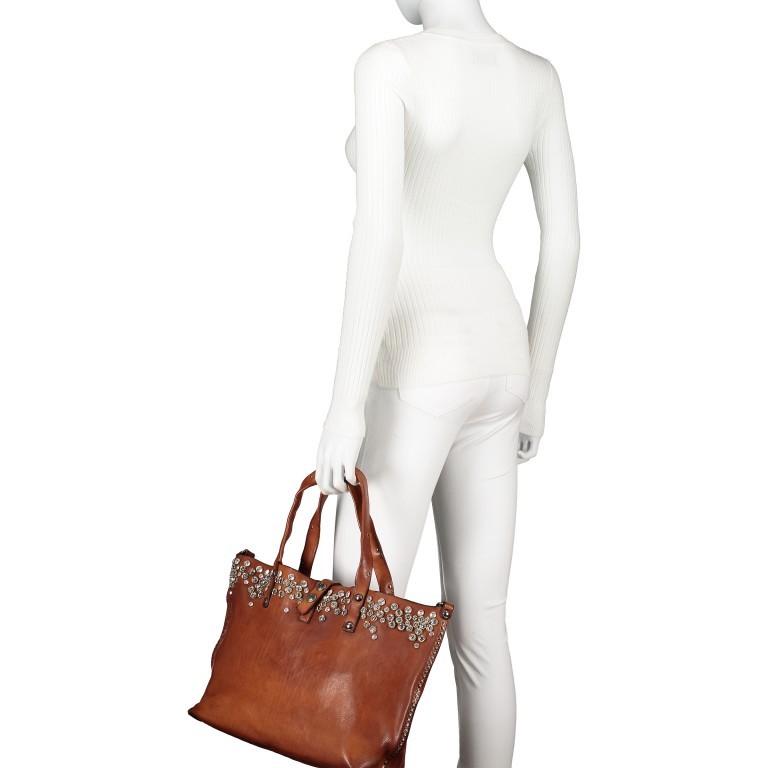 Handtasche 0290-X038 Leder Cognac, Farbe: cognac, Marke: Campomaggi, EAN: 8054302014809, Bild 4 von 8