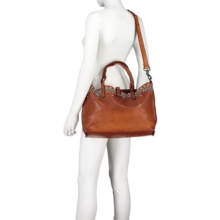 Handtasche 0290-X038 Leder Cognac, Farbe: cognac, Marke: Campomaggi, EAN: 8054302014809, Bild 6 von 8