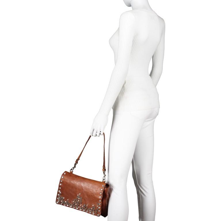 Umhängetasche Bella Di Notte 0260-X038 Leder Cognac, Farbe: cognac, Marke: Campomaggi, EAN: 8054302035620, Abmessungen in cm: 29.0x19.0x4.0, Bild 4 von 9
