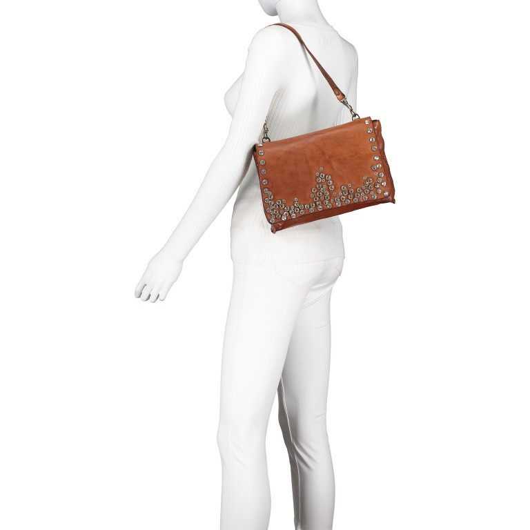 Umhängetasche Bella Di Notte 0260-X038 Leder Cognac, Farbe: cognac, Marke: Campomaggi, EAN: 8054302035620, Abmessungen in cm: 29.0x19.0x4.0, Bild 5 von 9