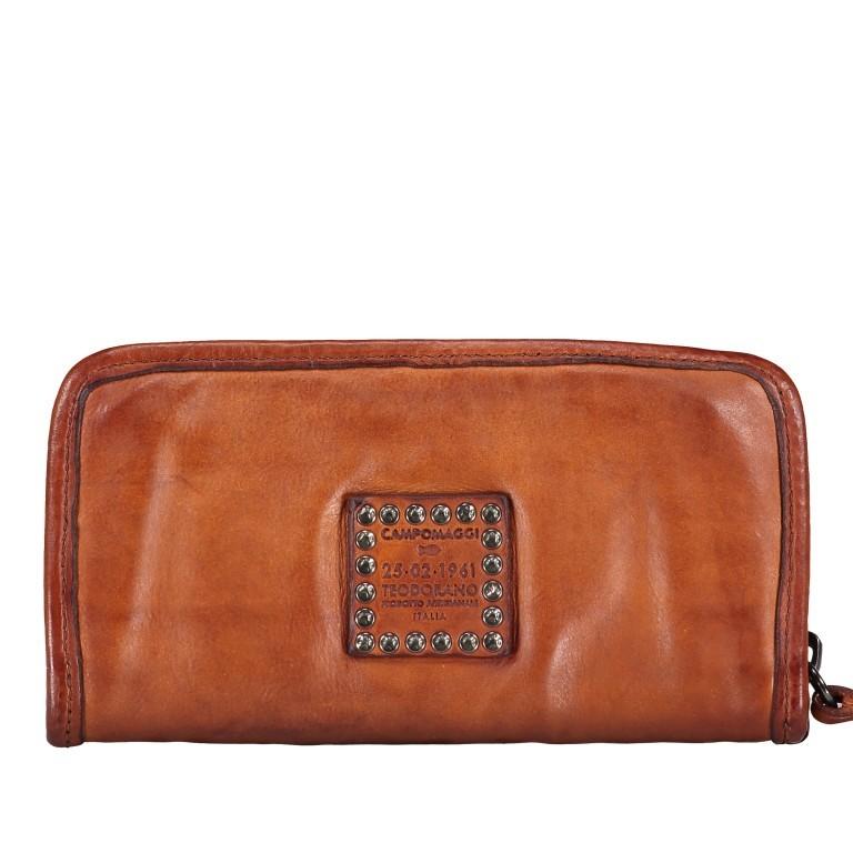 Geldbörse Bella Di Notte Cognac, Farbe: cognac, Marke: Campomaggi, EAN: 8054302732420, Abmessungen in cm: 21.0x11.0x3.0, Bild 3 von 4