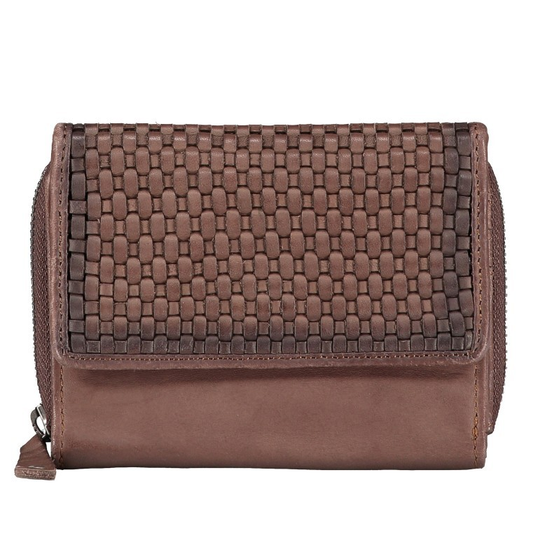 Geldbörse Soft-Weaving Lou B3.2090 Chocolate Brown, Farbe: braun, Marke: Harbour 2nd, EAN: 4046478050471, Abmessungen in cm: 13.5x10.5x3.0, Bild 1 von 6