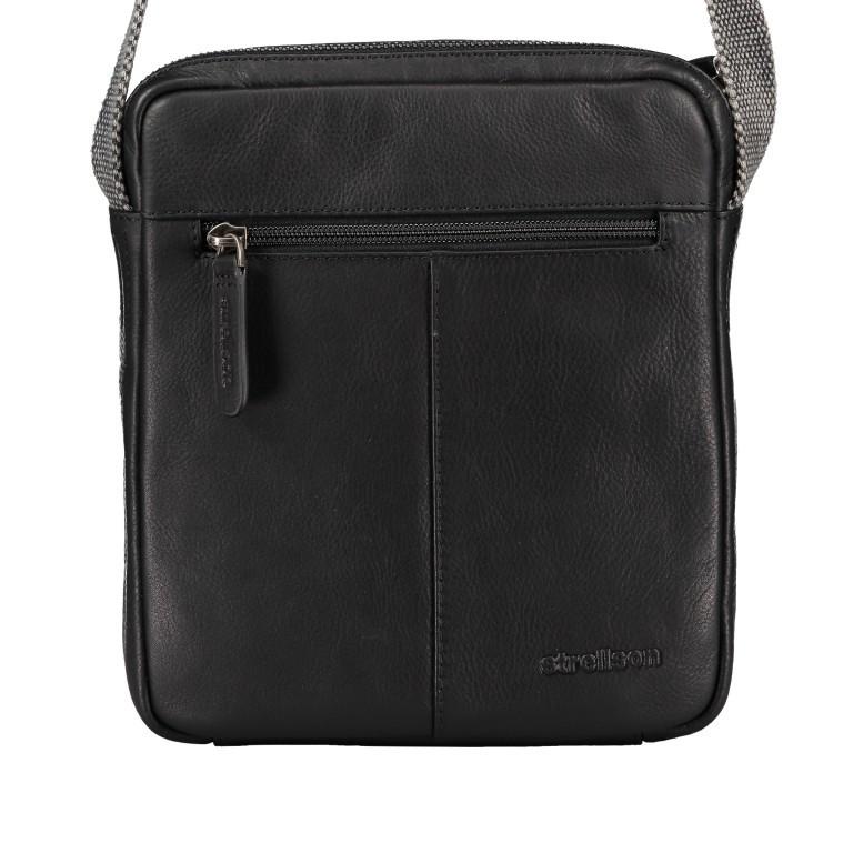 Umhängetasche Bondstreet Shoulderbag XSVZ Black, Farbe: schwarz, Marke: Strellson, EAN: 4053533902958, Abmessungen in cm: 21.0x25.0x3.5, Bild 3 von 6