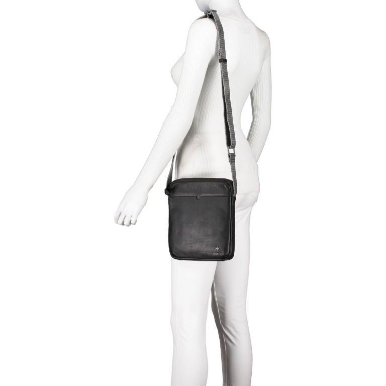 Umhängetasche Bondstreet Shoulderbag XSVZ Black, Farbe: schwarz, Marke: Strellson, EAN: 4053533902958, Abmessungen in cm: 21.0x25.0x3.5, Bild 4 von 6