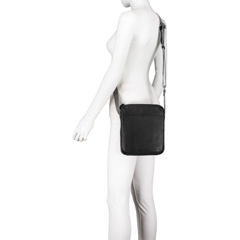 Umhängetasche Bondstreet Shoulderbag XSVZ Black, Farbe: schwarz, Marke: Strellson, EAN: 4053533902958, Abmessungen in cm: 21.0x25.0x3.5, Bild 5 von 6