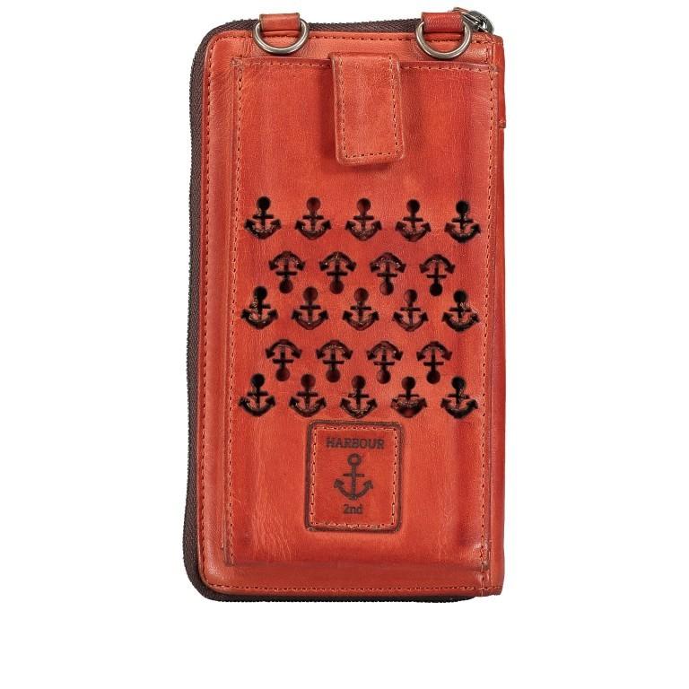 Geldbörse / Handytasche Anchor-Love Lina B3.2262 mit Schulterriemen Sparkling Lava, Farbe: orange, Marke: Harbour 2nd, EAN: 4046478051164, Abmessungen in cm: 11.0x19.5x2.5, Bild 3 von 8
