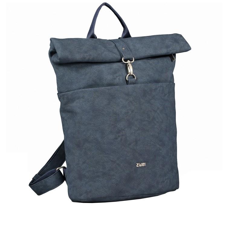 Rucksack Mademoiselle MR180 Nubuk Blue, Farbe: blau/petrol, Marke: Zwei, EAN: 4250257924079, Bild 2 von 6