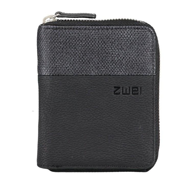 Geldbörse Eva Wallet EVW10 Nubuk Black, Farbe: schwarz, Marke: Zwei, EAN: 4250257922860, Abmessungen in cm: 10.0x13.0x4.0, Bild 1 von 6