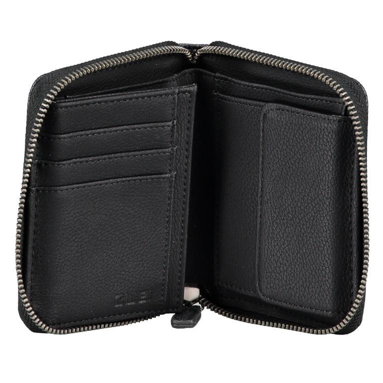 Geldbörse Eva Wallet EVW10 Nubuk Black, Farbe: schwarz, Marke: Zwei, EAN: 4250257922860, Abmessungen in cm: 10.0x13.0x4.0, Bild 5 von 6