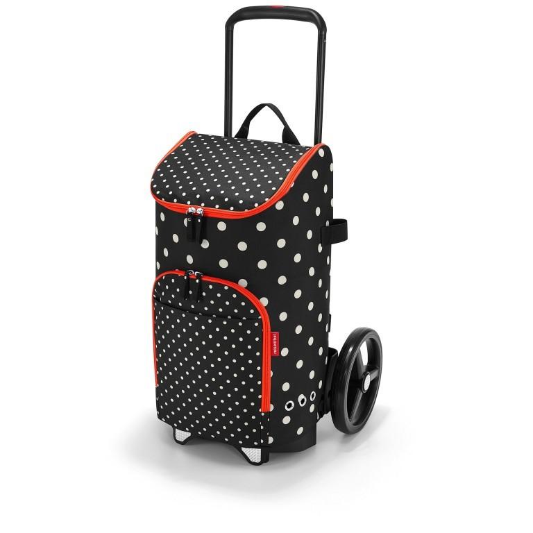 Einkaufsroller Citycruiser Set 2 teilig Rack + Bag Mixed Dots, Farbe: rot/weinrot, Marke: Reisenthel, Bild 1 von 14