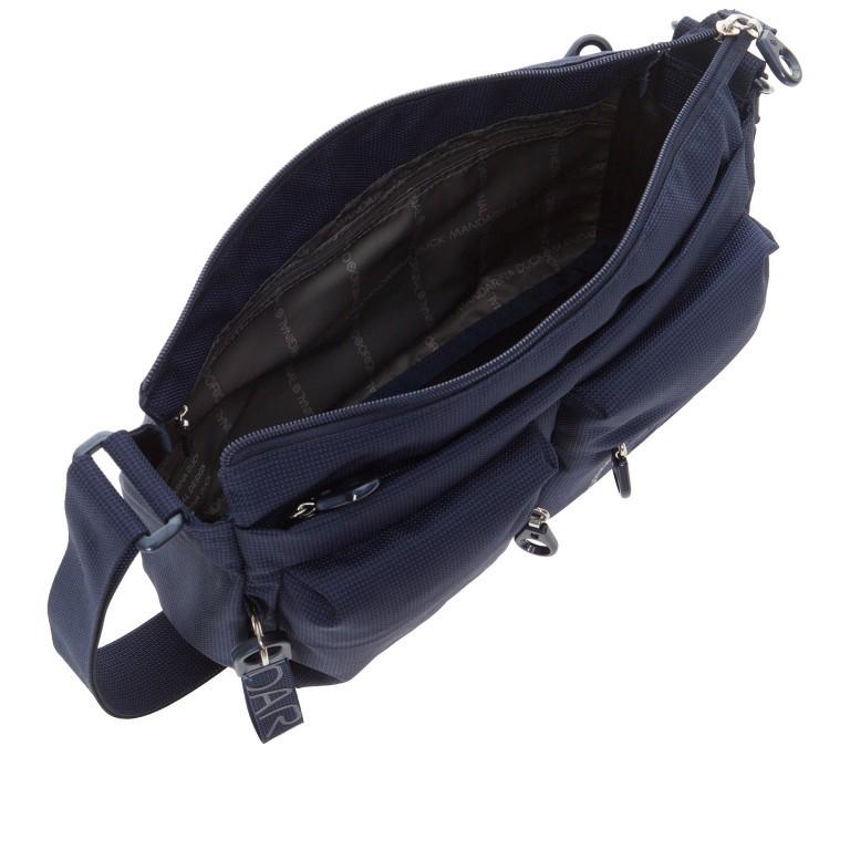 Umhängetasche MD20 QMTX5 Dress Blue, Farbe: blau/petrol, Marke: Mandarina Duck, EAN: 8032803657329, Abmessungen in cm: 28.0x19.0x11.0, Bild 6 von 7