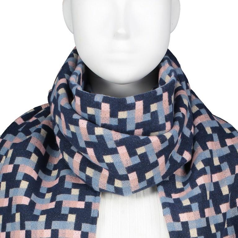 Schal Karo Blau, Farbe: rosa/pink, Marke: Hausfelder, EAN: 4065646004283, Bild 2 von 2