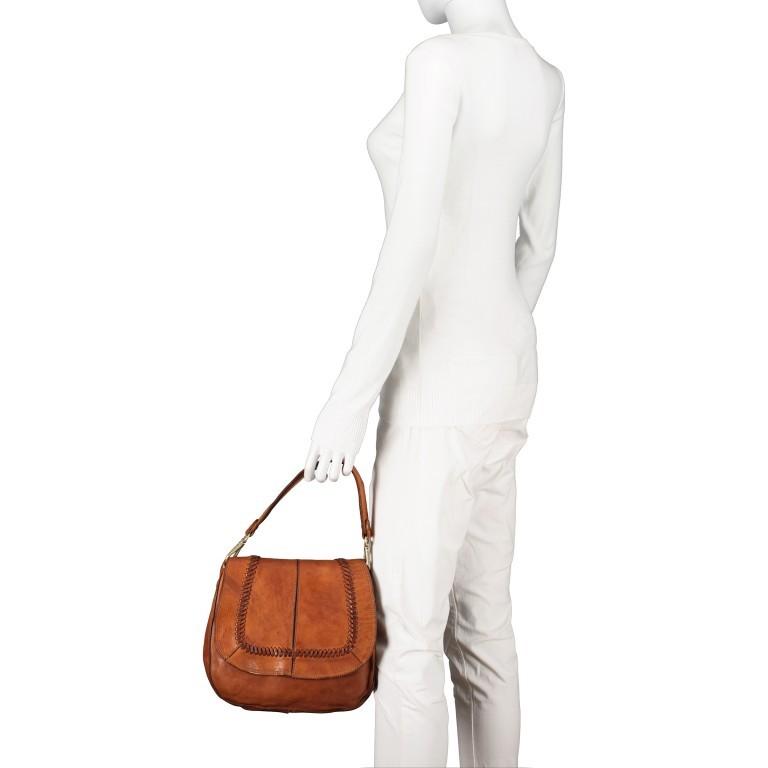 Satteltasche mit Overlock Cognac, Farbe: cognac, Marke: Campomaggi, EAN: 8054302708982, Abmessungen in cm: 26.0x24.0x9.0, Bild 4 von 9