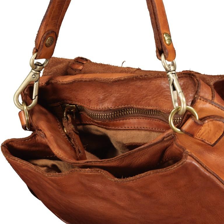 Satteltasche mit Overlock Cognac, Farbe: cognac, Marke: Campomaggi, EAN: 8054302708982, Abmessungen in cm: 26.0x24.0x9.0, Bild 9 von 9