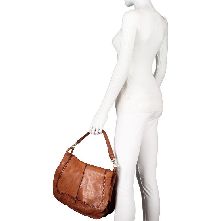 Umhängetasche Dalia Cognac, Farbe: cognac, Marke: Campomaggi, EAN: 8054302731256, Abmessungen in cm: 37.0x26.0x13.0, Bild 4 von 9