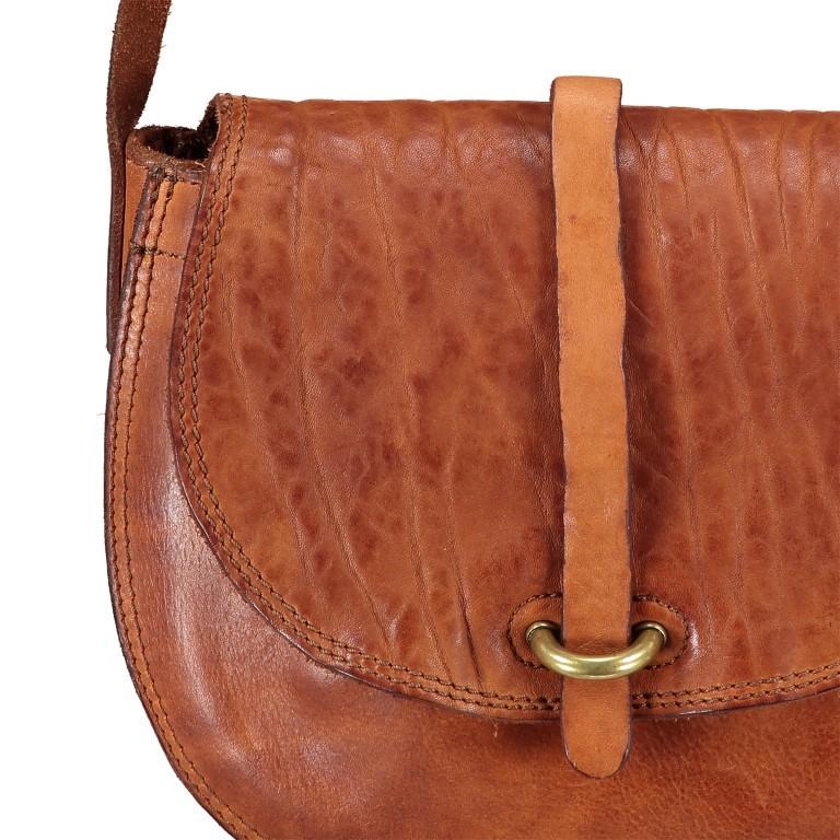 Umhängetasche Cognac, Farbe: cognac, Marke: Campomaggi, EAN: 8054302714013, Abmessungen in cm: 24.0x18.0x5.0, Bild 8 von 8