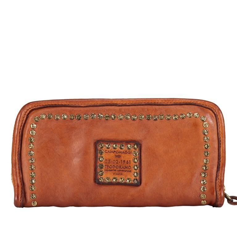 Geldbörse Cognac, Farbe: cognac, Marke: Campomaggi, EAN: 8054302713252, Abmessungen in cm: 20.5x11.0x2.5, Bild 3 von 4
