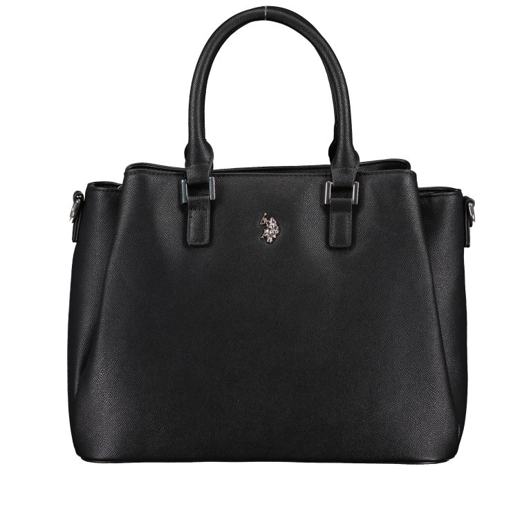 Handtasche Jones Black, Farbe: schwarz, Marke: U.S. Polo Assn., EAN: 8052792838974, Abmessungen in cm: 31.0x24.5x13.0, Bild 1 von 10
