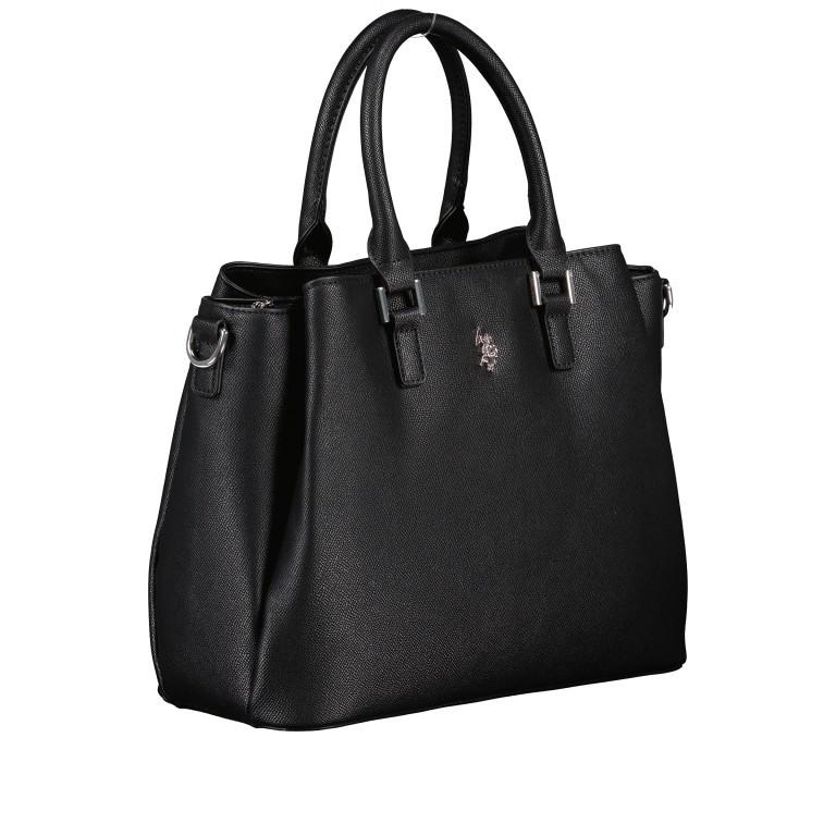 Handtasche Jones Black, Farbe: schwarz, Marke: U.S. Polo Assn., EAN: 8052792838974, Abmessungen in cm: 31.0x24.5x13.0, Bild 2 von 10