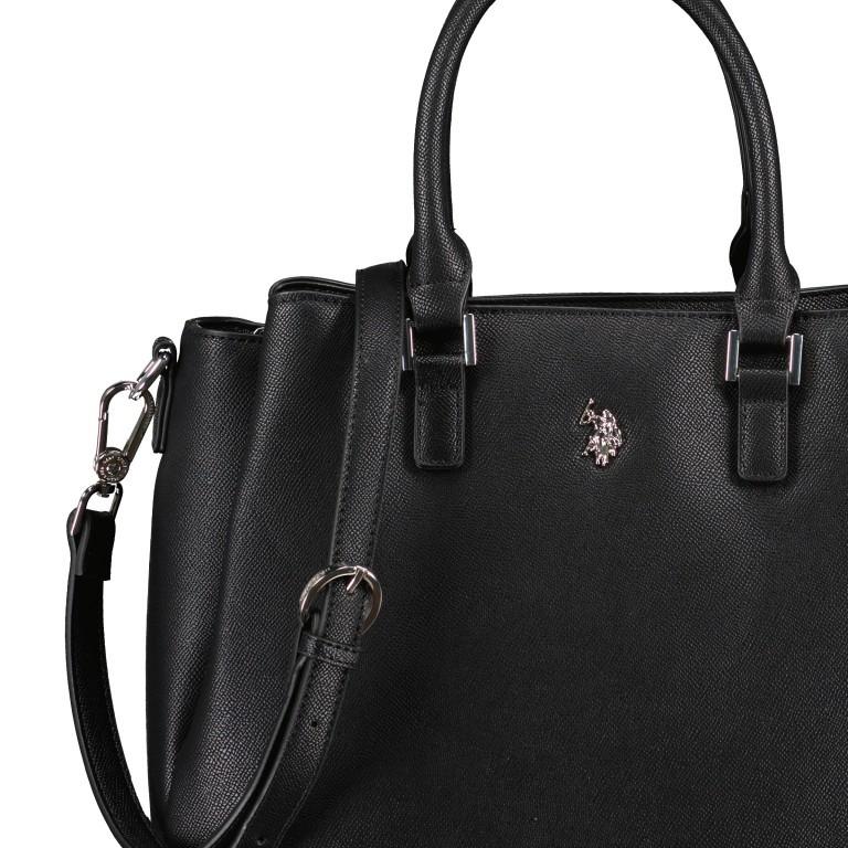 Handtasche Jones Black, Farbe: schwarz, Marke: U.S. Polo Assn., EAN: 8052792838974, Abmessungen in cm: 31.0x24.5x13.0, Bild 10 von 10
