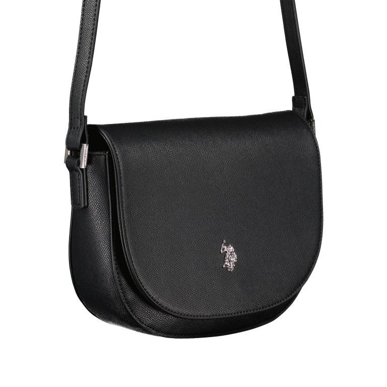 Umhängetasche Jones Black, Farbe: schwarz, Marke: U.S. Polo Assn., EAN: 8052792839155, Abmessungen in cm: 21.0x20.0x6.0, Bild 2 von 6