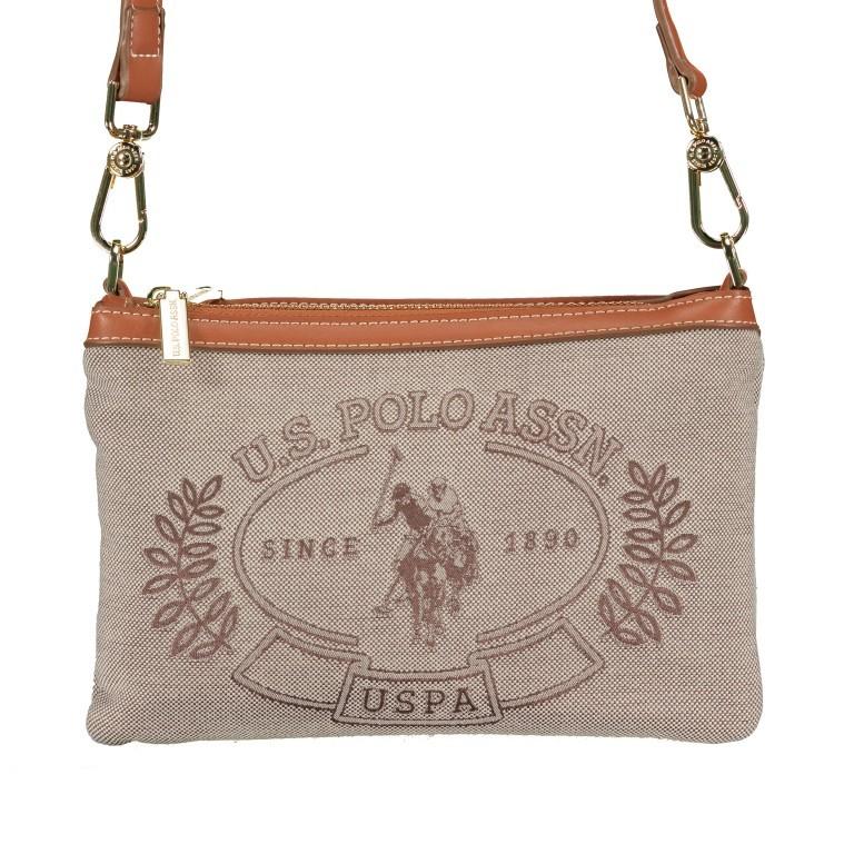 Umhängetasche Victoria Brown, Farbe: beige, Marke: U.S. Polo Assn., EAN: 8052792915521, Abmessungen in cm: 23.0x15.5x4.0, Bild 1 von 8