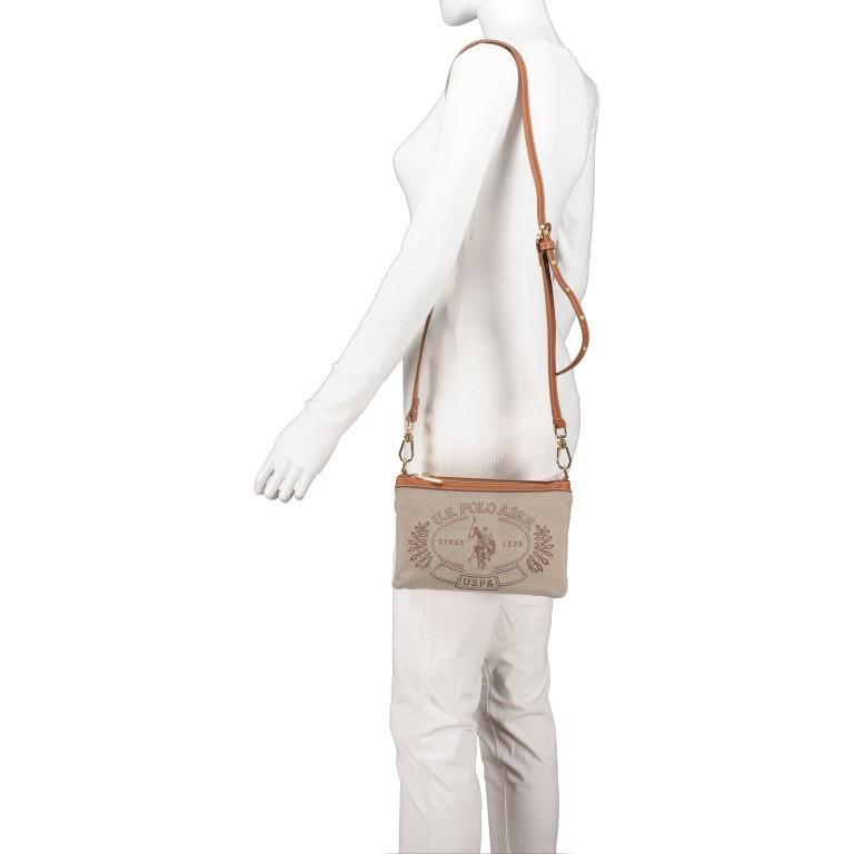 Umhängetasche Victoria Brown, Farbe: beige, Marke: U.S. Polo Assn., EAN: 8052792915521, Abmessungen in cm: 23.0x15.5x4.0, Bild 4 von 8