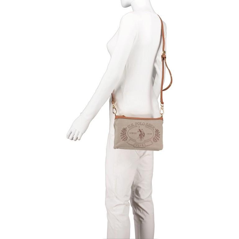 Umhängetasche Victoria Brown, Farbe: beige, Marke: U.S. Polo Assn., EAN: 8052792915521, Abmessungen in cm: 23.0x15.5x4.0, Bild 5 von 8