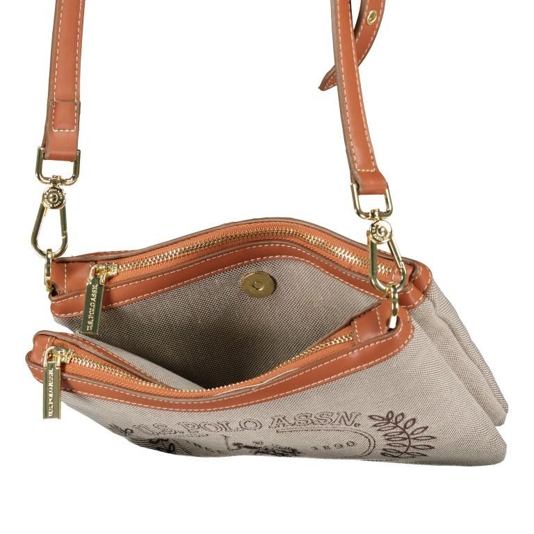 Umhängetasche Victoria Brown, Farbe: beige, Marke: U.S. Polo Assn., EAN: 8052792915521, Abmessungen in cm: 23.0x15.5x4.0, Bild 7 von 8