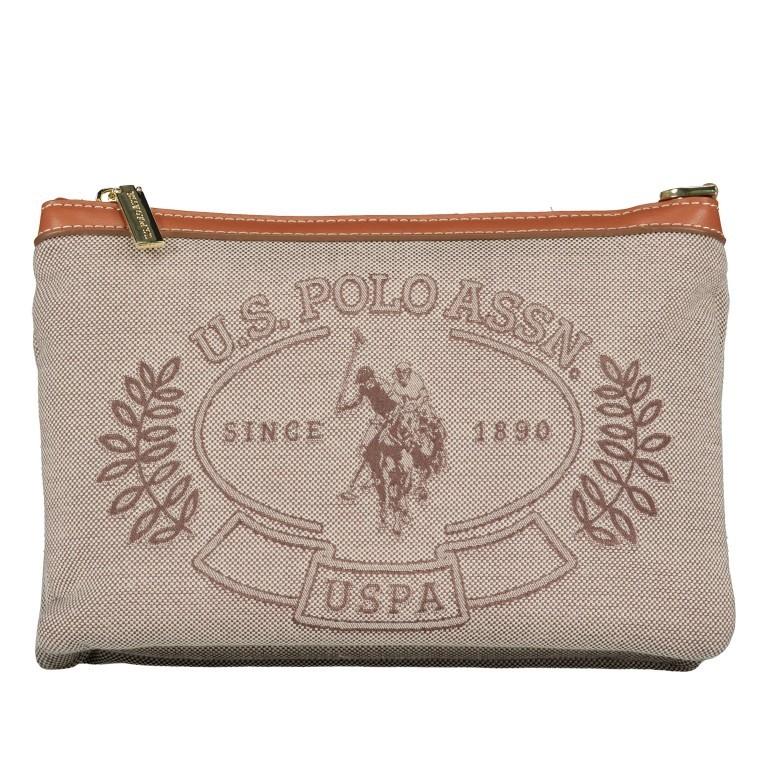 Umhängetasche Victoria Brown, Farbe: beige, Marke: U.S. Polo Assn., EAN: 8052792915521, Abmessungen in cm: 23.0x15.5x4.0, Bild 8 von 8