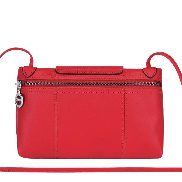 Umhängetasche Le Pliage Cuir Umhängetasche 757-1061 Rot, Farbe: rot/weinrot, Marke: Longchamp, EAN: 3597921823506, Abmessungen in cm: 22.0x14.0x7.0, Bild 3 von 8