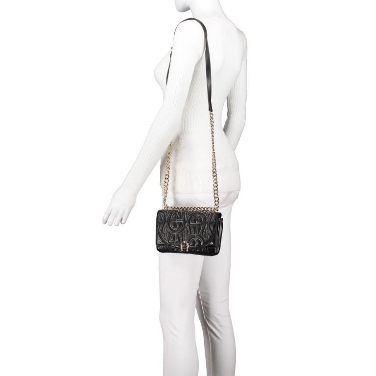 Umhängetasche Diadora XS Black, Farbe: schwarz, Marke: AIGNER, EAN: 4055539359224, Abmessungen in cm: 19.0x13.0x7.0, Bild 4 von 7