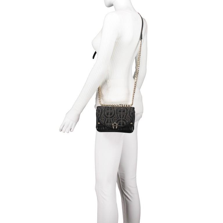 Umhängetasche Diadora XS Black, Farbe: schwarz, Marke: AIGNER, EAN: 4055539359224, Abmessungen in cm: 19.0x13.0x7.0, Bild 5 von 7