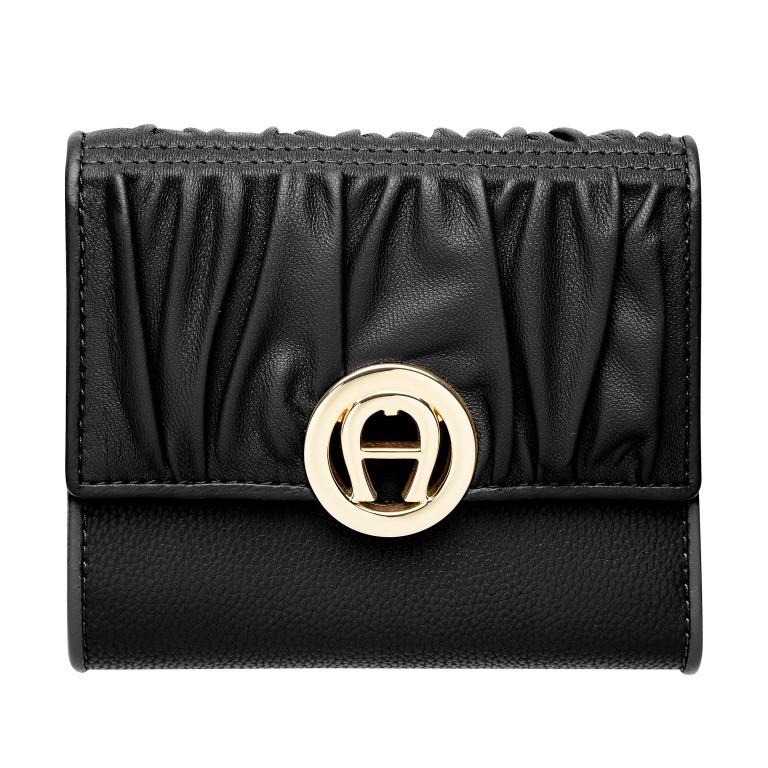 Geldbörse Livia Black, Farbe: schwarz, Marke: AIGNER, EAN: 4055539361173, Abmessungen in cm: 12.0x10.0x2.3, Bild 1 von 3