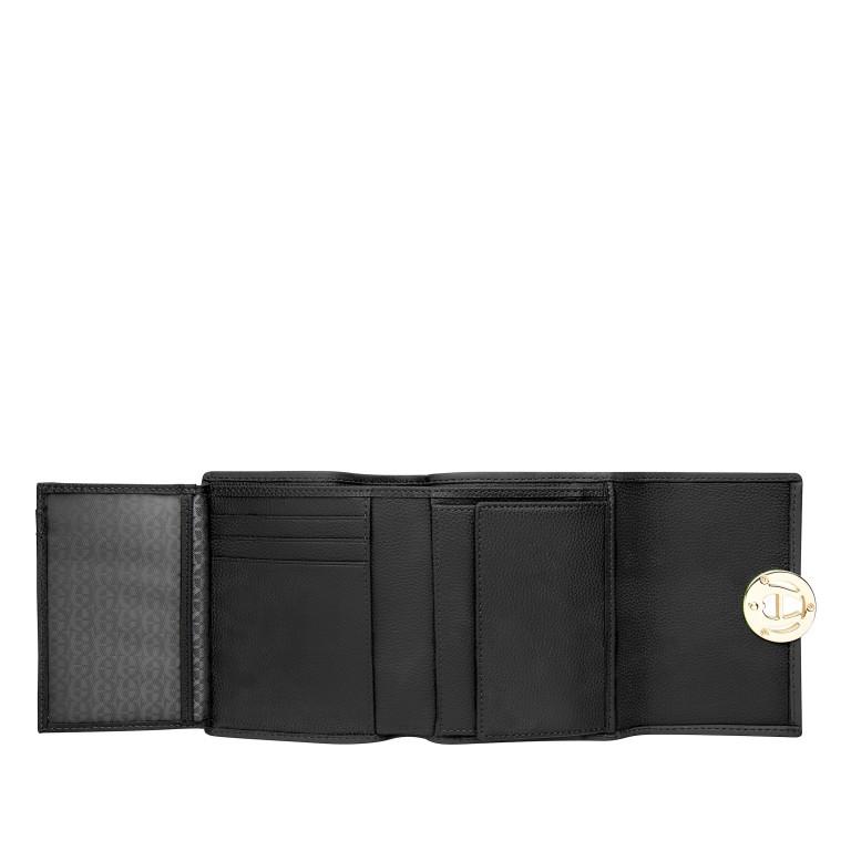 Geldbörse Livia Black, Farbe: schwarz, Marke: AIGNER, EAN: 4055539361173, Abmessungen in cm: 12.0x10.0x2.3, Bild 3 von 3