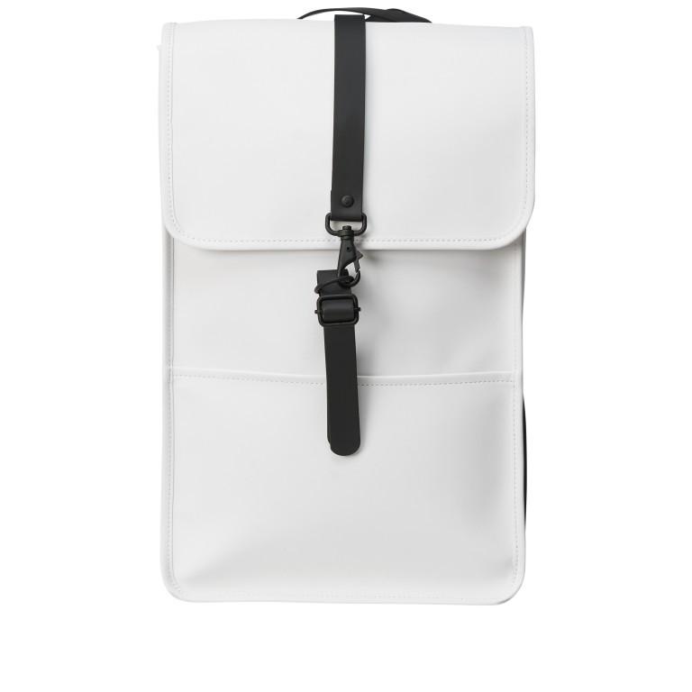 Rucksack Backpack Off White, Farbe: weiß, Marke: Rains, EAN: 5711747469160, Abmessungen in cm: 28.5x47.0x10.0, Bild 1 von 5